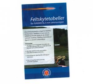 Bilde av FELTSKYTINGSTABELL FOR KAL.